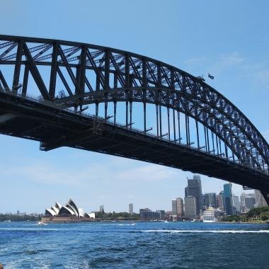 De brug vanuit de ferry.
